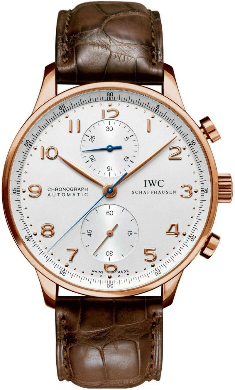 Amazon Com Iwc Portuguese Silver Dial Chronograph Rose Gold