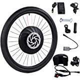 """Goplus 26"""" Front Wheel E-Bike Conversion Kit Electric Bicycle Motor Kit Bicycle Accessories Set with APP Interaction, Battery and USB Charger, 36V 240W"""