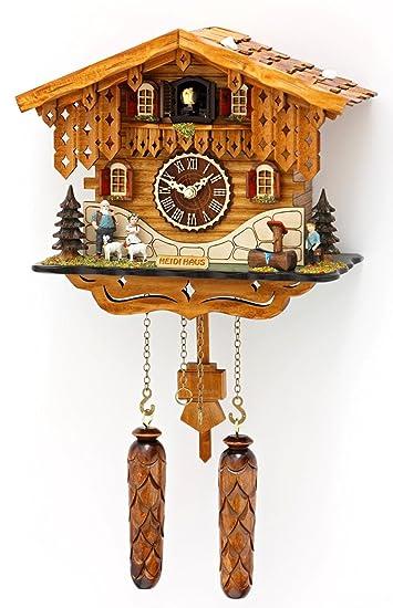 Amazon.de: magicaldeco Original Schwarzwald- Kuckucksuhr Heidihaus ...