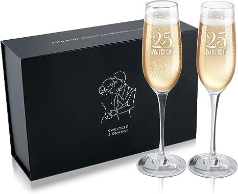 Anniversary Wine Champagne Glasses 25th Anniversary 50th Anniversary  People Portrait Caricature Toasting Glasses Caricature Wedding Glasses