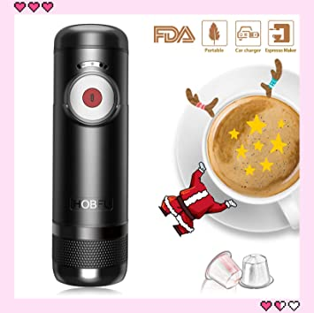 máquina automática portátil de espresso hierve agua 15 bares operación de un botón de presión cafetera de viaje al aire libre: Amazon.es: Hogar