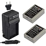 Newmowa BLN-1 Battery (2-Pack) and Charger kit for Olympus BLN-1, BCN-1 and Olympus OM-D E-M1, OM-D E-M5, PEN E-P5,OM-D E-M5 II