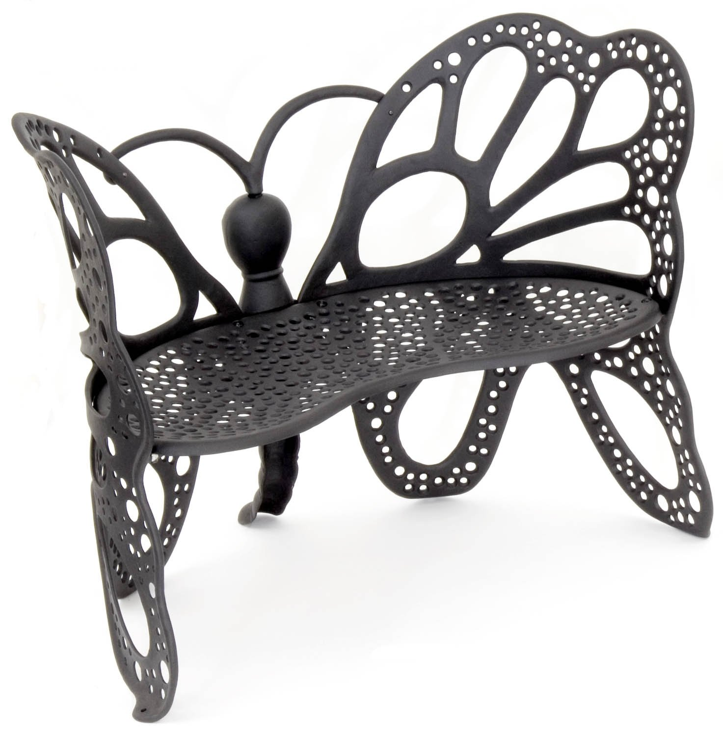 Butterfly metal chair - Amazon Com Flower House Fhbfb06 Butterfly Bench Black Outdoor Benches Patio Lawn Garden