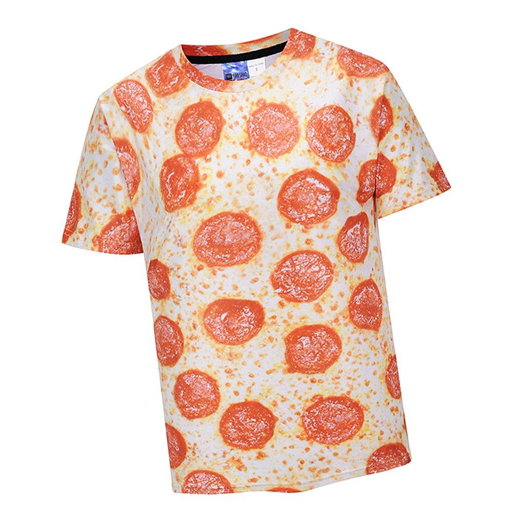 Homyl Uomo Divertente T-Shirt Stampa 3D Top Manica Corta Sportiva Estiva