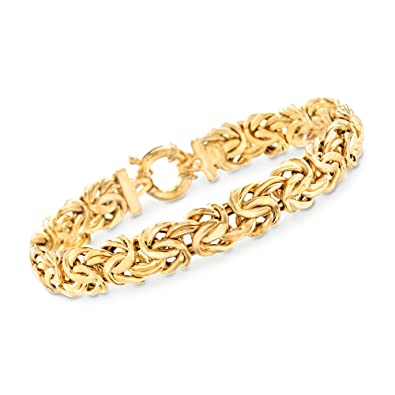 Ross-Simons Italian 18kt Yellow Gold Byzantine Bracelet