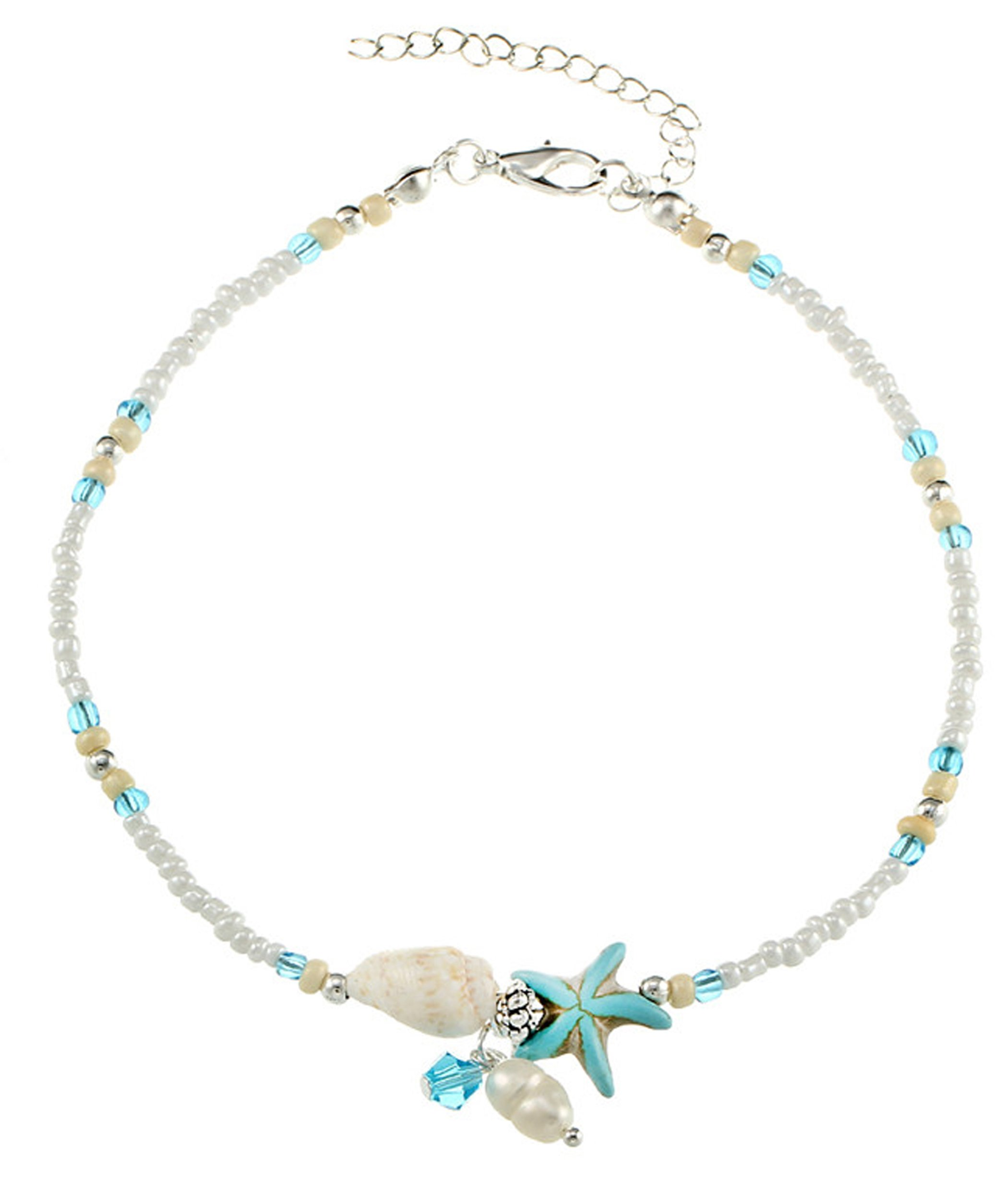 Blazing Autumn Beads/Shell Anklet Foot Jewelry For Teens And Women