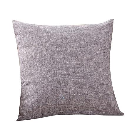 Fundas De Cojines, ❤️Xinantime Cajas de cojín de moda simple Cafe Sofa Funda de cojín Decoración del hogar diferente tamaño (45_x_45_cm, ❤️Gris)