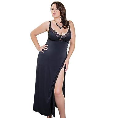 2fb72d3de814 Coquette Totally Tempting Lingerie Gown, Long Black Chemise at ...