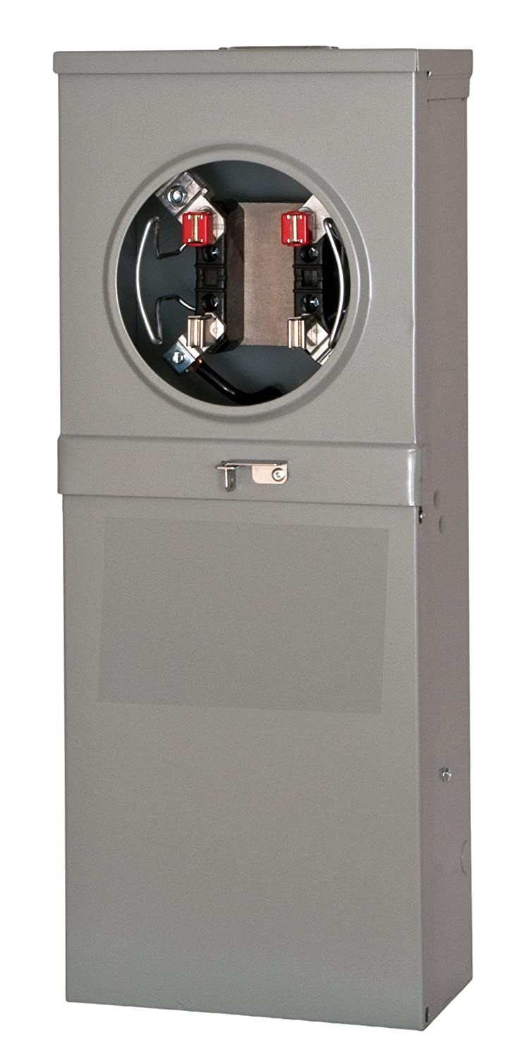 Siemens TL137RT Talon Temporary Power Outlet Panel with a 20, 30, and 50-Amp Receptacle Includes a Top Fed, Ringless Type, Meter Socket Provision