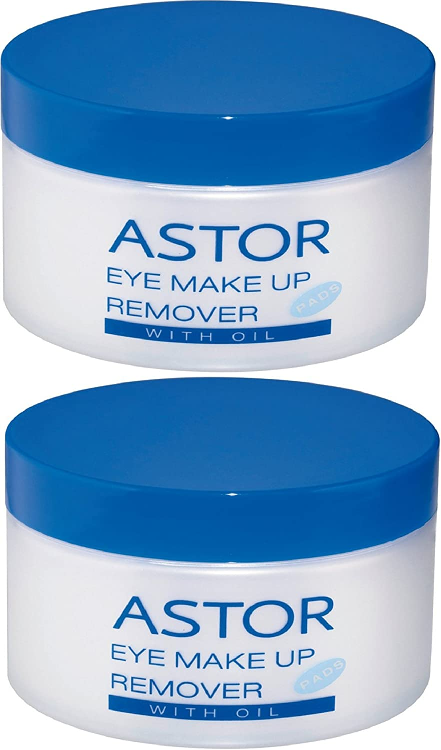 Astor Eye Make up Remover Pads with Oil, 2er Pack (2 x 50 Stück) 2er Pack (2 x 50 Stück) 23000047000