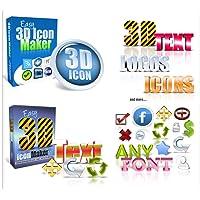 Trend Easy 3D ICON Paket V1 + V2 - Logo + Text- Maker