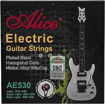 heridas de cobre superligeras Alice Cuerdas de guitarra de acero sin estabilidad cuerda de guitarra D-4/ª