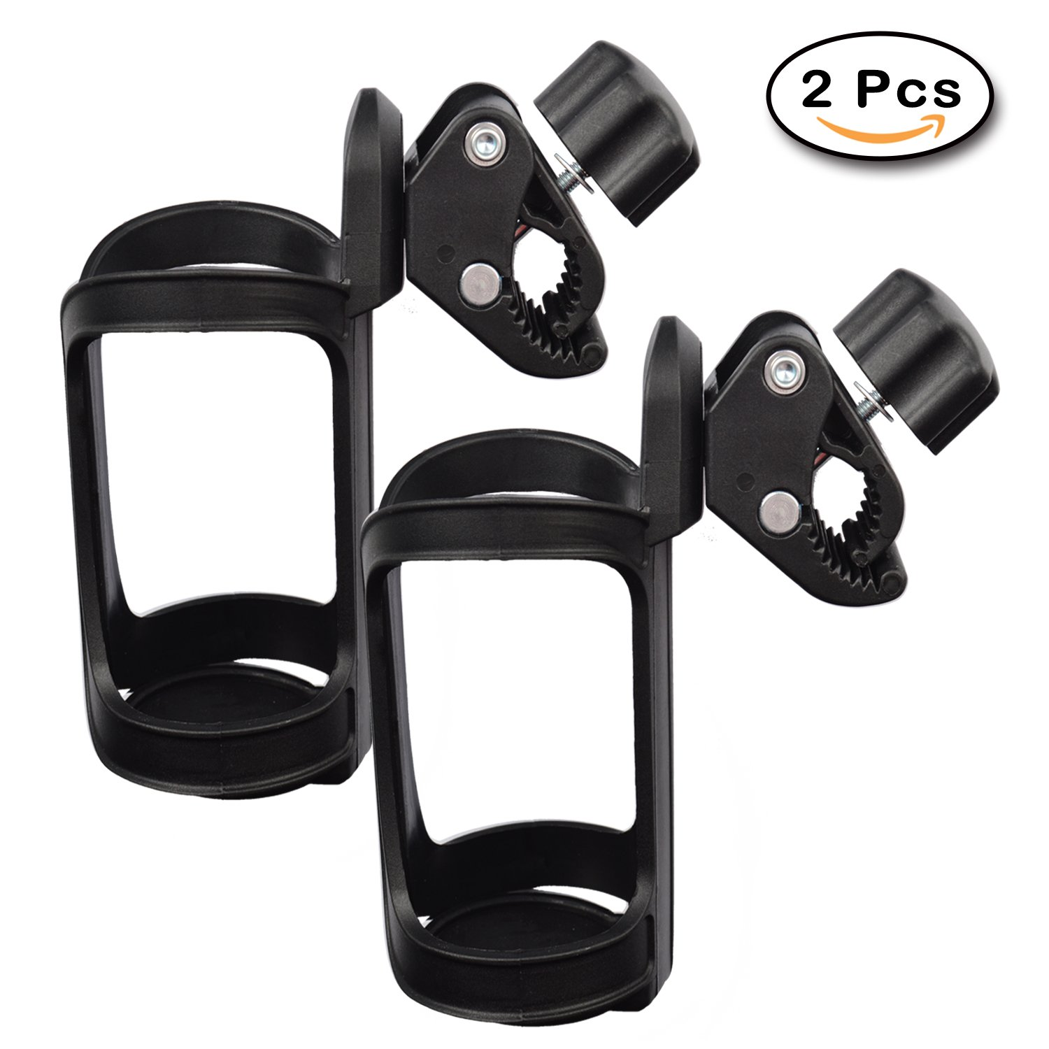 Upgrade Edition Bike Cup Holder, Stroller Drink Holders by FindUWill,360 Degrees Universal Rotation Cup Drink Holder for Baby Stroller/Pushchair, Bicycle Strollers, Wheelchair