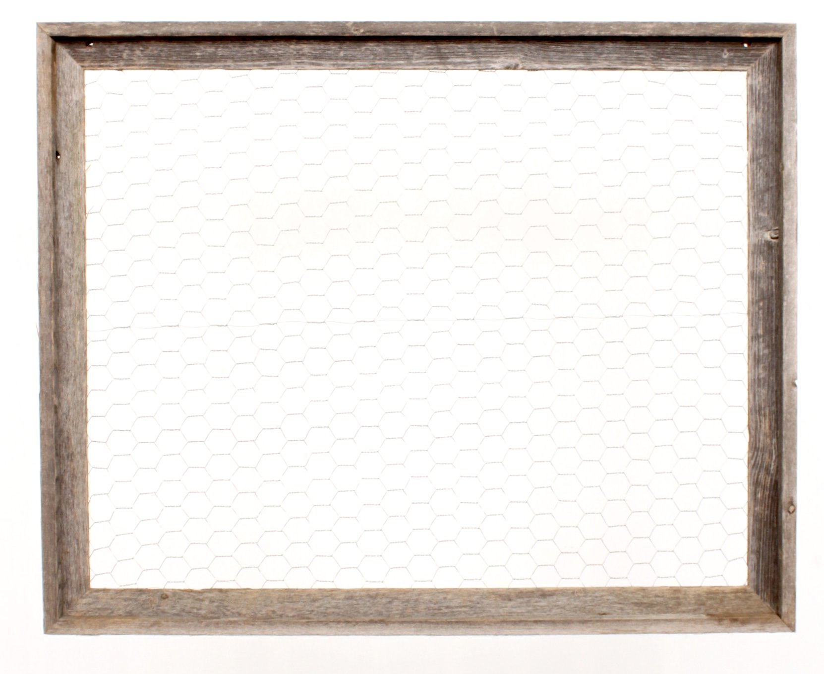BarnwoodUSA | Chicken Wire Photo or Message Board, Jewelry Organizer - 10 Clothes Pins Included - 100% Up-Cycled Reclaimed Wood Frame (24 x 28 Frame) by BarnwoodUSA