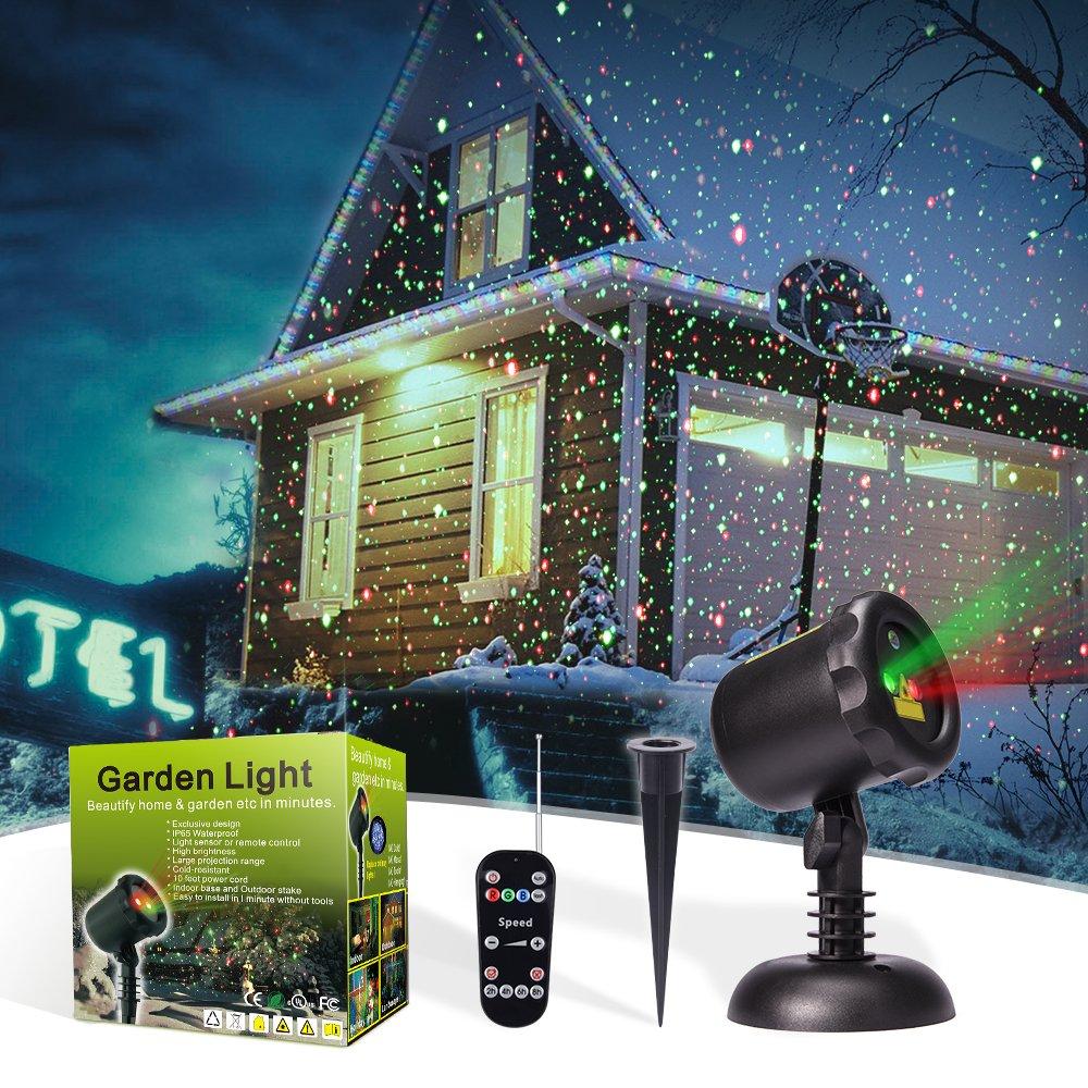 MicTuning 防水設計 LEDプロジェクション機能ライト 多彩 クリスマスライト ガーデン ライト 祝日 投影ランプ イルミネーション led 屋外 防水 雰囲気作りライト 庭園ライト  角度調節可能 B074TCLX3D 11809