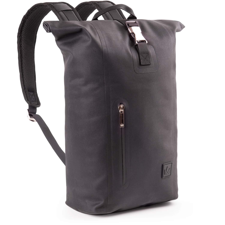 The Friendly Swede Slim Rolltop Laptop Backpack – Waterproof TPU, Commuter Backpack