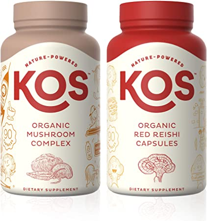 KOS Mushroom Complex + Red Reishi Capsules Bundle