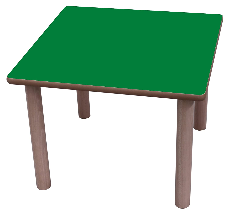 Mobeduc – Kindertisch, quadratisch, Holz 60 x 60 cm, Größe 1 Haya y Blau Oscuro Haya Y Grün Oscuro 60 x 60 cm, Größe 0