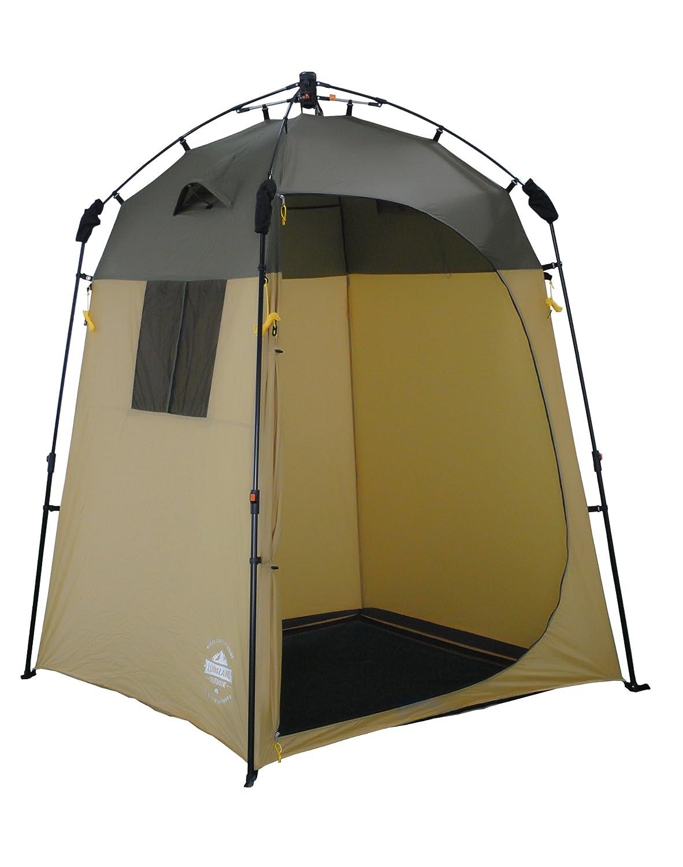 Lumaland Outdoor Pop Up Tienda de campaña Ducha Aseo Privacidad Camping 155x155x220 marrón