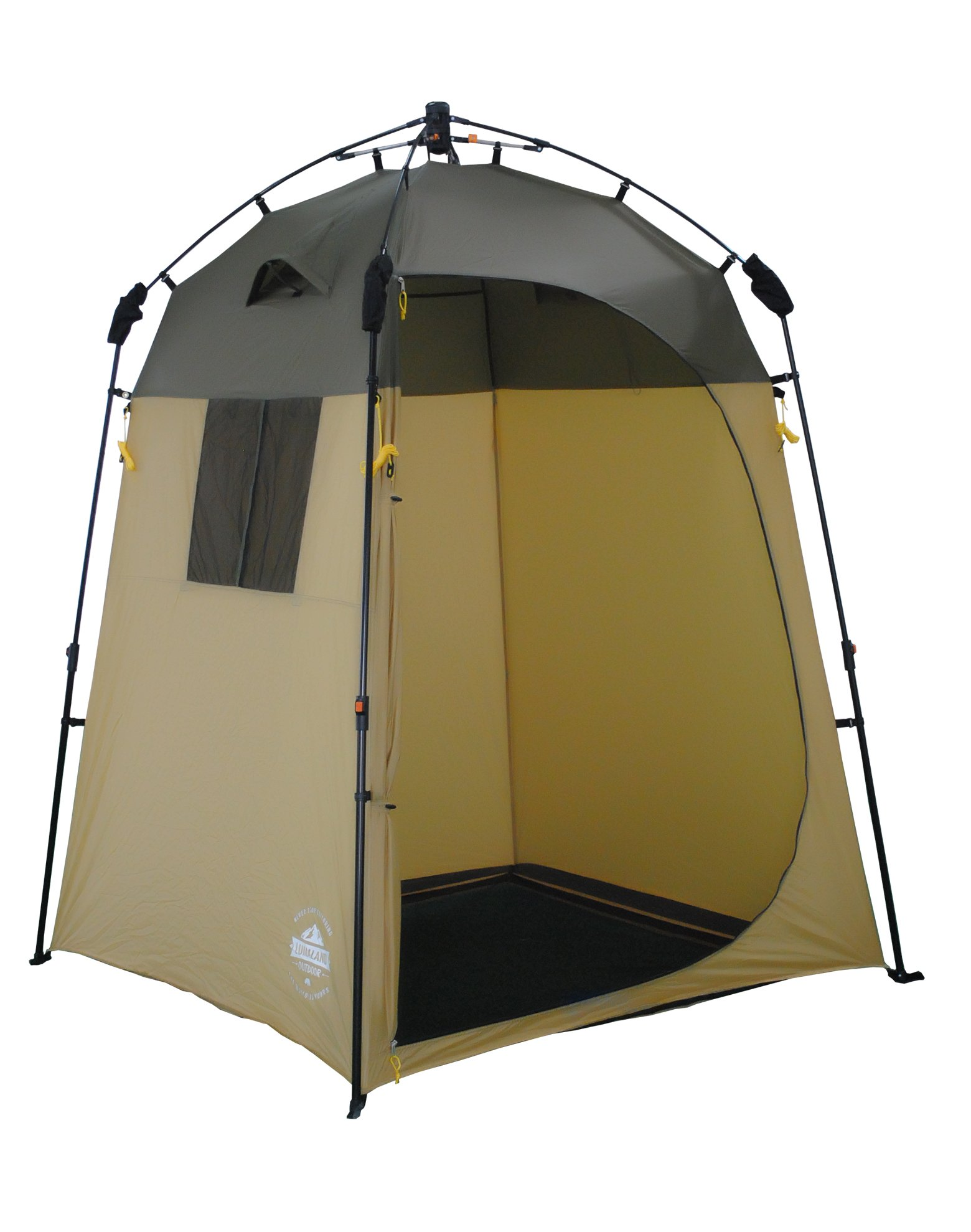 Lumaland Outdoor Pop Up Shower Tent Dressing Tent Privacy Toilet Tent Standing Height 2.05 m Changing Tent Shelter Sunshade Camping 155x155x220 cm