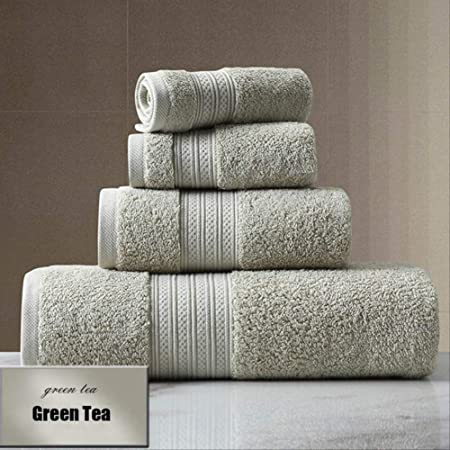 TVKL Toalla de baño Conjunto de Toalla de algodón Color sólido ...