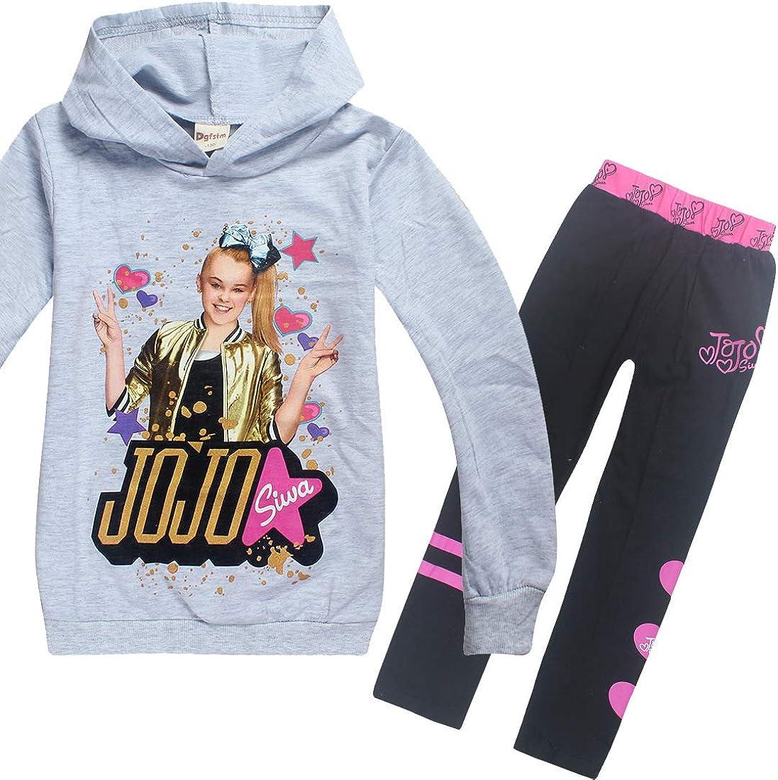 Girls Hoodies Sets Casual Sweatshirts Shirt Tops Clothes and Trousers for JoJo Siwa Girls