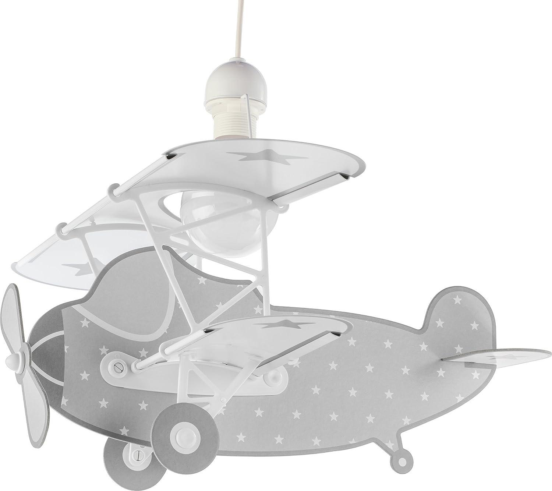 1 W Plastik E27 Grau Dalber Stars H/ängelampe Kinder 50 x 64 x 40 cm