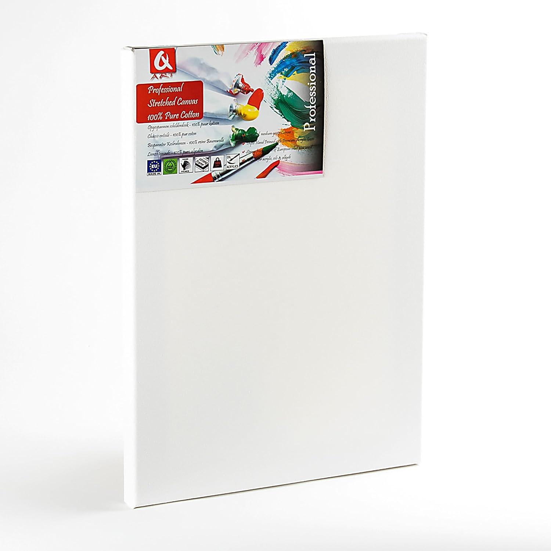 imprimitura per pittura acrilica Tela professionale 100 x 100 cm con cornice preparate bianche Quantum Art