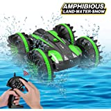 Joyfun Toys for 5-10 Year Old Boys Amphibious RC Car for Kids 2.4 GHz Remote Control Boat Waterproof RC Monster Truck Stunt Car 4WD Remote Control Vehicle Girls Gifts All Terrain Water Beach Pool Toy
