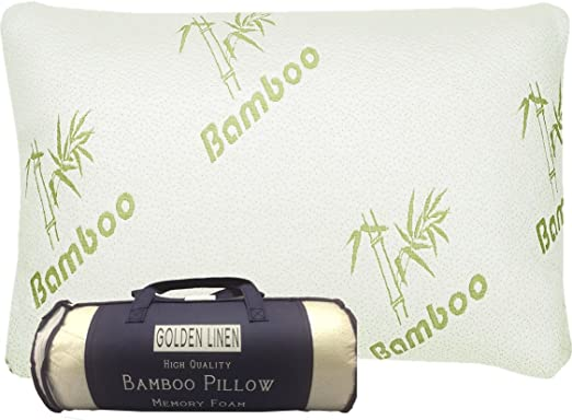 Hippih Bamboo Shredded Memory Foam Pillow With Zip Cover
