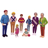 Miniland 27395 - Set de 8 figuras Familia europea, 12,5 cm