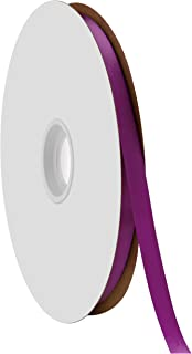 "product image for Berwick Offray 3/8"" Single Face Satin Ribbon, Purple, 100 Yds"