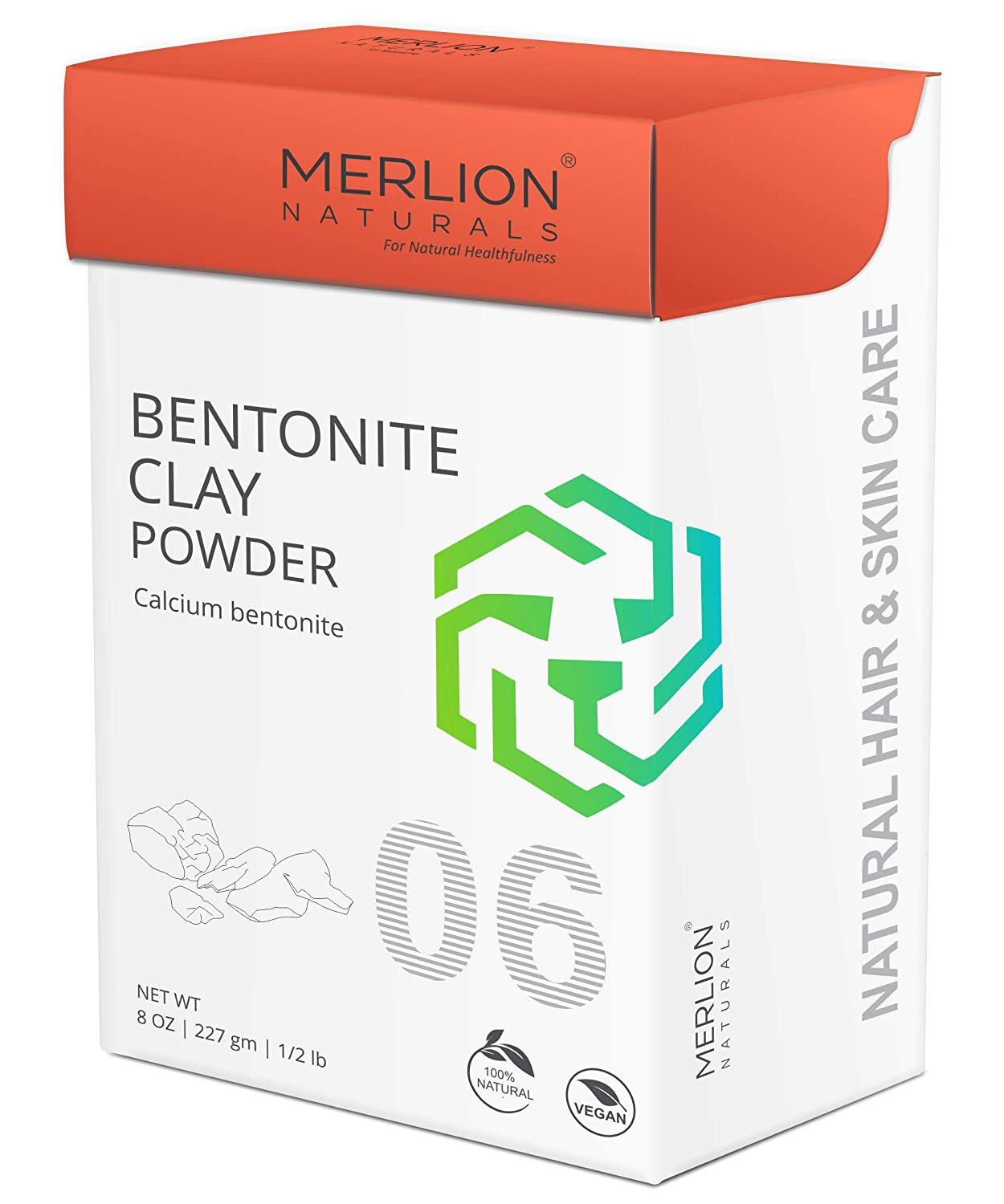 Merlion Naturals Bentonite Clay Powder, Calcium Bentonite