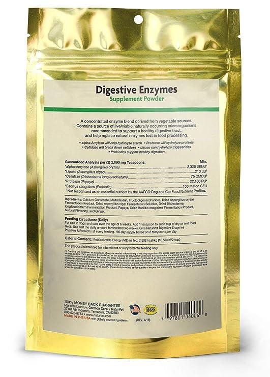 Amazon.com: NaturVet – Enzimas digestivas – además de ...