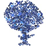 Rustark 650Pcs Navy Blue Resin Buttons Favorite Findings Basic Buttons 2 and 4 Holes Craft Buttons for Arts, DIY Crafts, Decoration, Sewing - Sizes Range from 0.28 to 1.18 Inch
