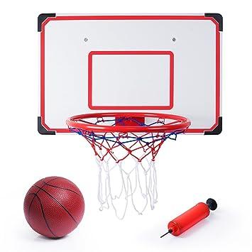 SGILE Pro Wall Mounted Mini Basketball Hoop - 70 x 45cm Shatterproof  Backboard with Air Pump a2bd3a68969