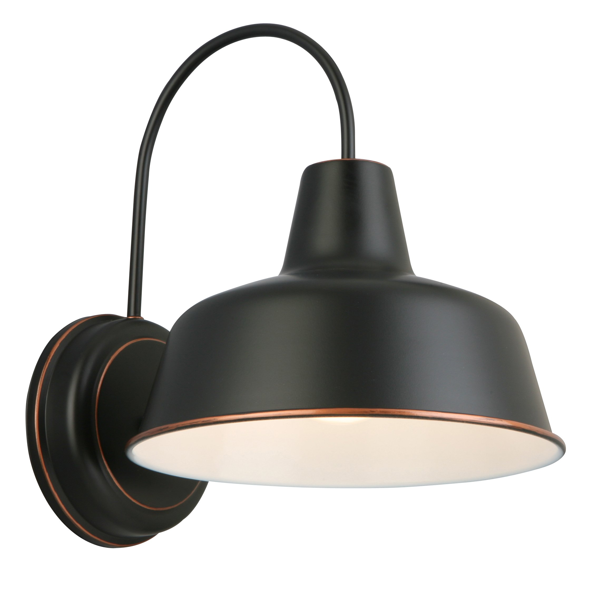 Design House 579375 Mason 1 Indoor/Outdoor Wall Light, 10'', Oil Rubbed Bronze