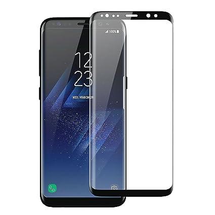 new style f30f3 967b1 Olixar Samsung Galaxy S8 Plus Screen Protector - Full Cover/Edge to Edge -  Tempered Glass 9H Tempered Hardness, Anti Fingerprint - Black