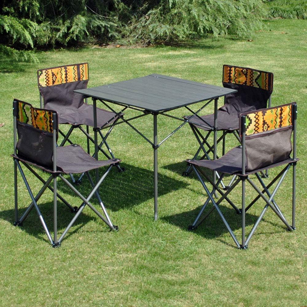 Dyfar Folding Outdoor Camping Furniture Set Folding Table With 4 Chairs Set Black Garden Furniture Set A That Feed Outdoors Cleans Furniture For Holiday Picnic Bbq Black Amazon De Sport Freizeit