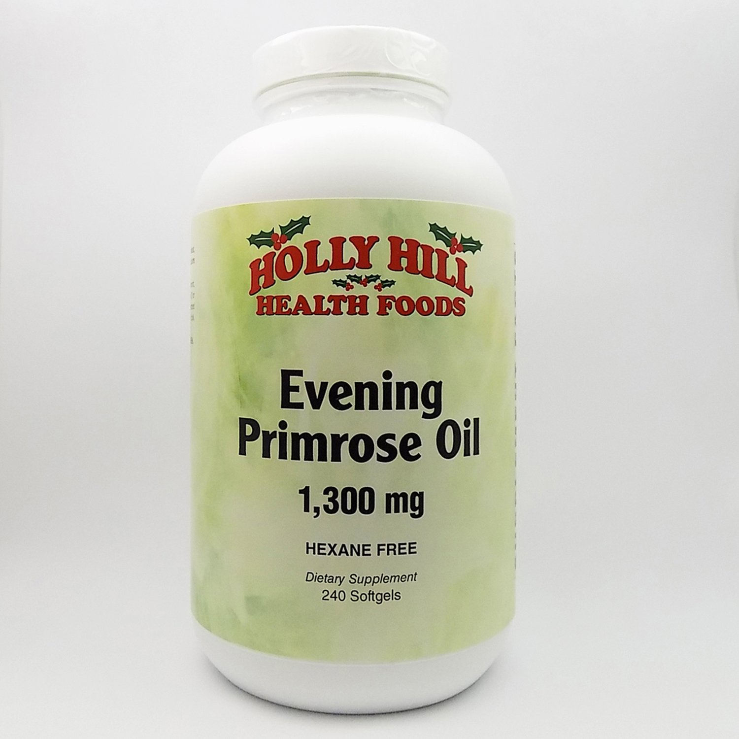 Holly Hill Health Foods, Evening Primrose Oil 1300 MG, Hexane Free, 240 Softgels
