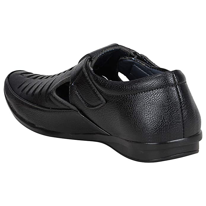 6626b9f3260efc BUCADIA Men's Synthetic Black Tan Colour Outdoor Formal Casual Ethnic  Loafer Sandal Shoe: Buy Online at Low Prices in India - Amazon.in