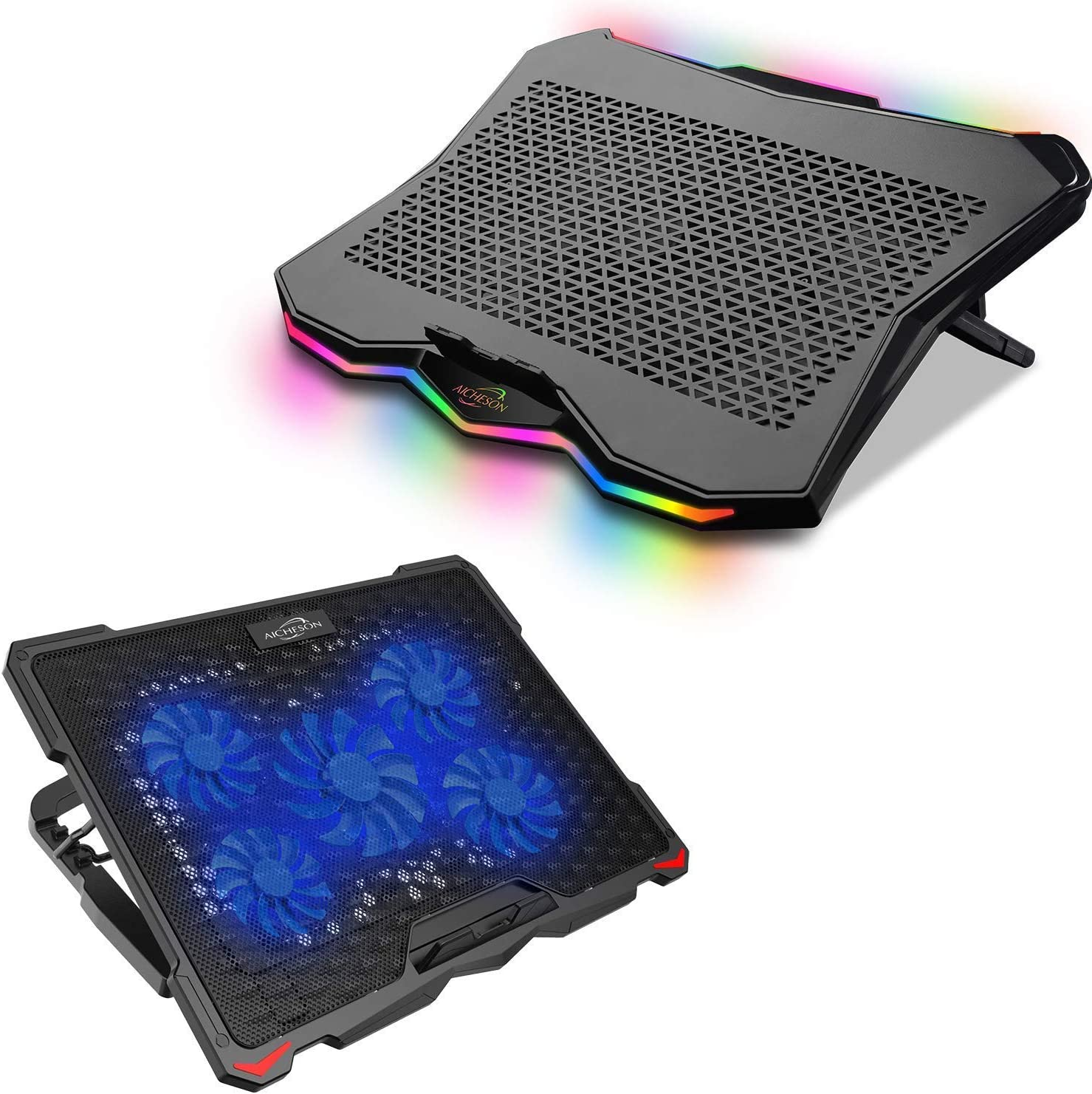 AICHESON Laptop Cooling Pad Combination Set, 2 USB Ports,Ergonomically Multiple Heights