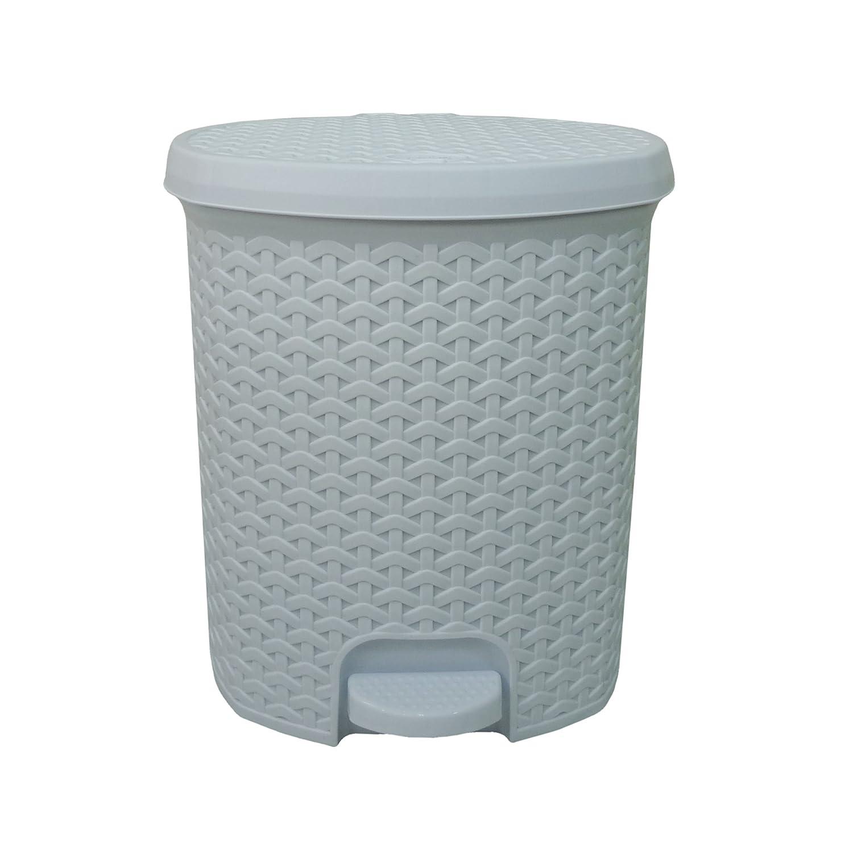 Hobby Small Plastic Rattan Design Waste Paper Bathroom Kitchen Pedal ...