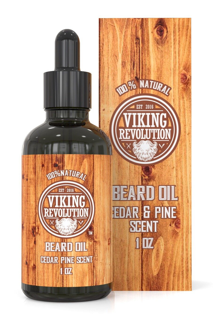 BEST DEAL Beard Oil Conditioner - All Natural Cedarwood & Pine Scent with Organic Argan & Jojoba Oils - Softens & Strengthens Beards and Mustaches for Men … Viking Revolution