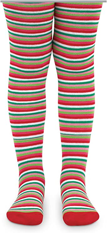 Jefferies Socks Girls Fashion Stripe Tight and Solid Nylon Book Costume Tights 2 Pair Pack