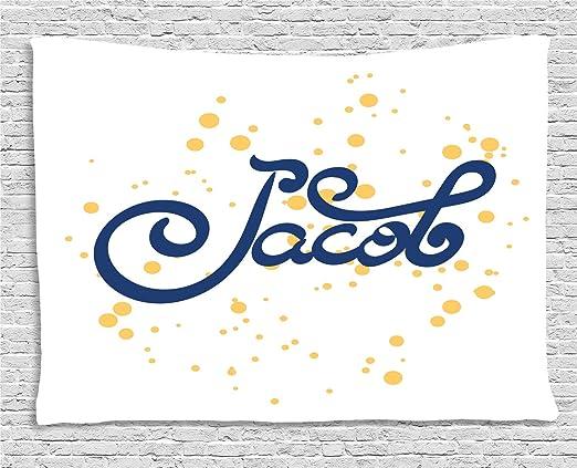 ABAKUHAUS Jacob Tapiz de Pared, Timeless Moderna Carta Motif, para ...
