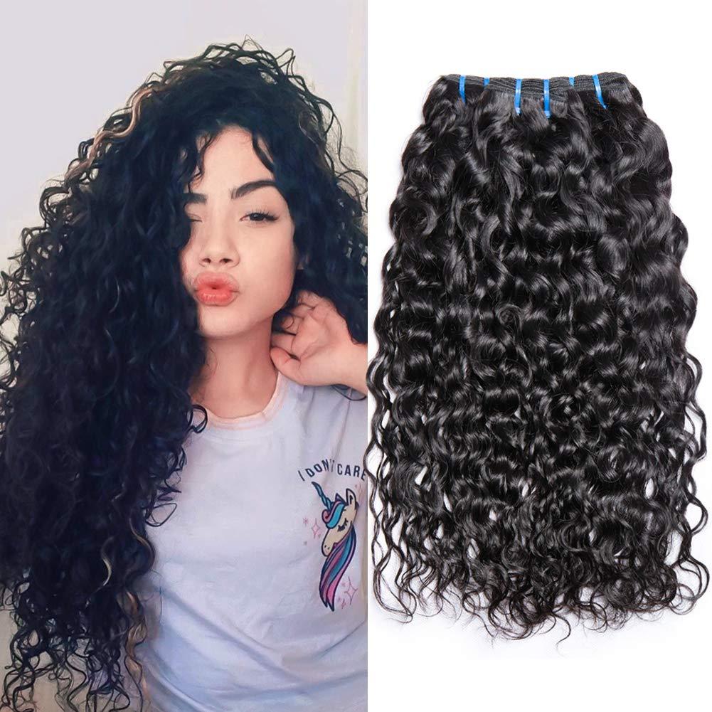 Musi brasiliano capelli umani bundle Water Wave 8 A grade Human Hair Bundles remy capelli veri tessitura natual colore nero 300 g totale 14 16 18 pollici