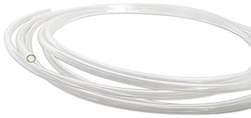 Cortacésped transparente manguera de combustible gasolina tubo 3mm DI 5mm DE 1 metro 3 pies -