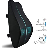 Lumbar Support Pillow for Office Chair,Memory Foam Back Cushion for Car Seat,Chair,Computer Desk Chairs,Large Ergonomic…