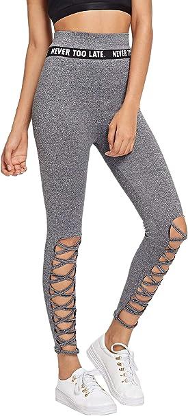 Charmant femme taille haute taille plus Yoga Sport Pantalon Musique Note Legging Pantalon